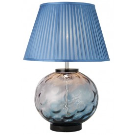 TL1426 - Transparent Tinted Blue Table Lamp Complete